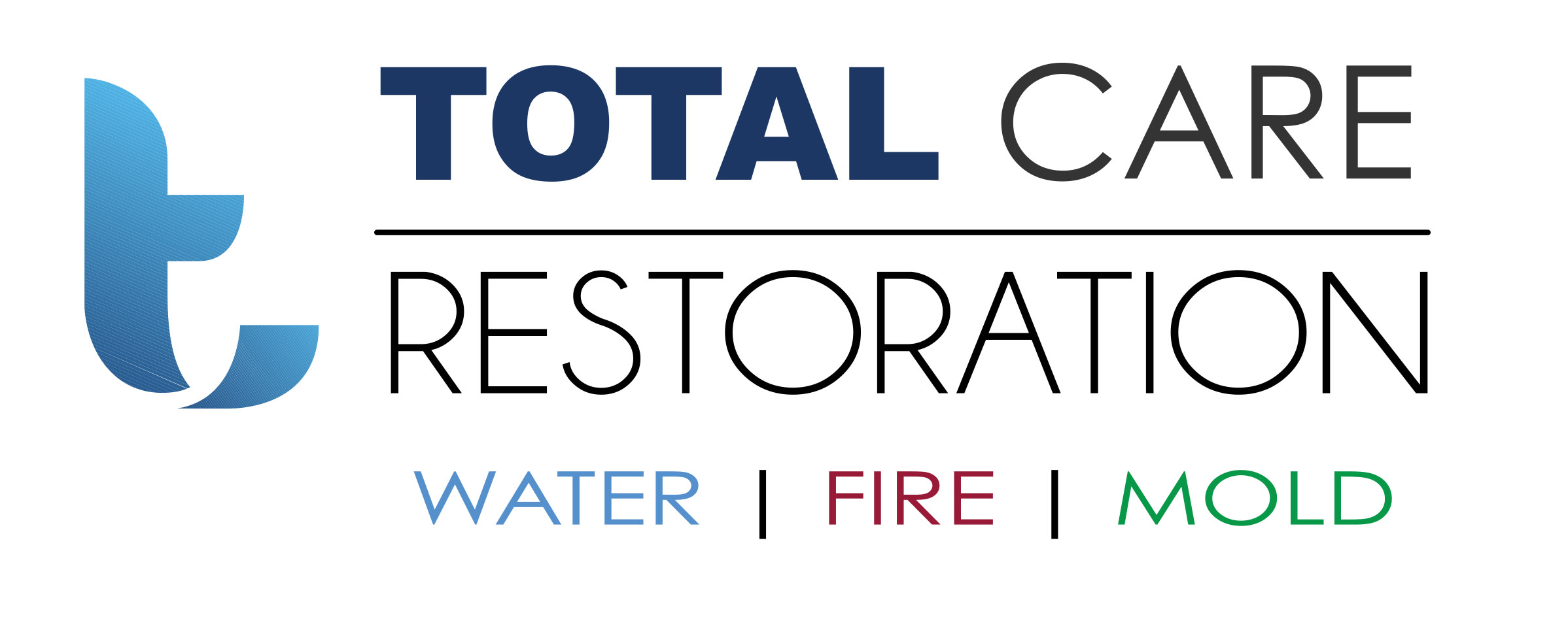 Water, Fire & Mold Restoration Company Logo